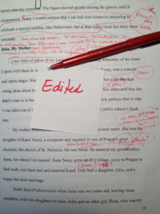 Editor's red pen at work