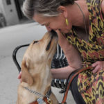 Beth Finke Author nose to nose with her Seeing Eye dog Whitney
