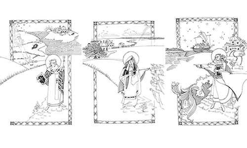 Illustrations from A Staff to the Pilgrim by Fr Gabriel Cooper Rochelle